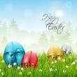 Colorful Easter background — Imagens vectoriais em stock