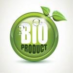 Bio product - glossy icon — Stock Vector