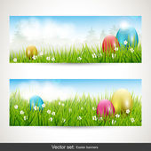 Easter banners — Vettoriale Stock