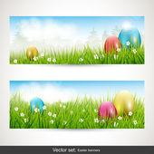 复活节横幅 — 图库矢量图片