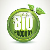 Bio product - glossy icon — Stock Vector