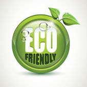 ECO friendly - glossy icon — Stock Vector