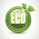 Eco product - glossy icon — Stock Vector