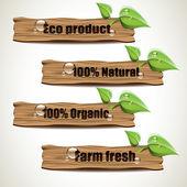 Ekologické známky — Stock vektor