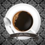Luxury coffee menu design — Stock Vector