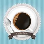 fundo do menu de café azul — Vetorial Stock