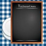 restaurang menybakgrund — Stockvektor