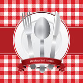 дизайн меню ресторана — Cтоковый вектор