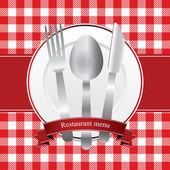 Diseño de menú de restaurante — Vector de stock