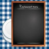 Arrière-plan de menu de restaurant — Vecteur