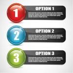 opciones brillante Vector — Vector de stock