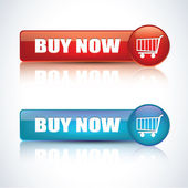 Buy now buttons — Stock Vector
