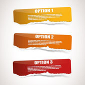 Ripped paper options — Stock Vector