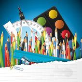 διάνυσμα φόντο σχολείο — Διανυσματικό Αρχείο