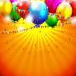 Colorful birthday background — Image vectorielle