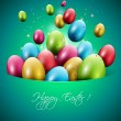 Colorful Easter greeting card — Imagen vectorial
