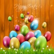 Easter greeting card — Vector de stock #26501025