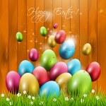 tarjeta de felicitación de Pascua — Vector de stock