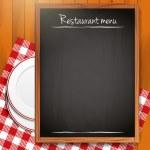 Empty blackboard - Restaurant menu background — Stock Vector
