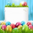 Easter greeting card — Imagen vectorial