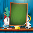 Back to school - vector background — Stock Vector #26501749