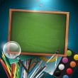 Modern school background — Image vectorielle