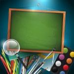 Modern school background — Stock Vector #26501945