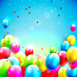 Sweet birthday background with copy-space — Imagen vectorial