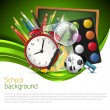 Modern green school background — Imagen vectorial
