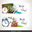 Back to school banners — Stockvectorbeeld