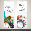 Back to school - set of vector banners — Stockvectorbeeld