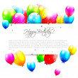 Birthday balloons on white background — Stock Vector