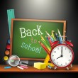 Back to school - vector background — Imagen vectorial