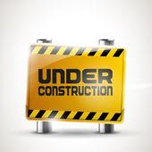"""Under construction"" vector sign — Stock Vector"