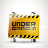 """Under construction"" vector sign — Stock Vector"