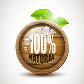 100 percent Natural — Stock Vector