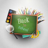 Back to school - modern background — Stock Vector