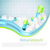 Medical background — Stock Vector