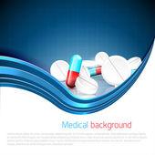 Medizinischen hintergrund — Stockvektor