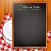 άδειο μαυροπίνακα - εστιατόριο φόντου μενού — Διανυσματικό Αρχείο