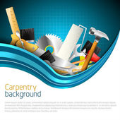 Carpentry background — Stockvektor