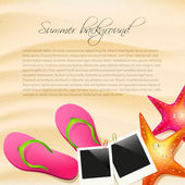 Summer background with copyspace — Stock Vector