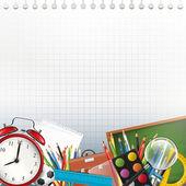Fond d'école avec fond — Vecteur