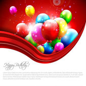 Modern birthday greeting card — Vector de stock