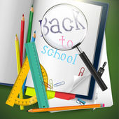 Back to school - creative vector background — Stock Vector