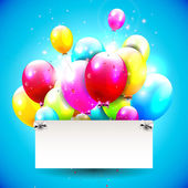 Birthday background with copyspace — Stock Vector