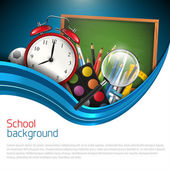 Modern blue school background — Stock Vector