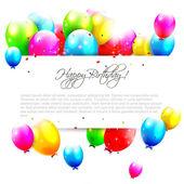 Ballons anniversaire sur fond blanc — Vecteur