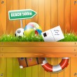 Summer vacation background — Wektor stockowy #26563727