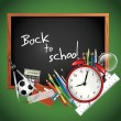 Back to school - Vector background — Vettoriali Stock